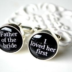 Father of the #bride cuff links