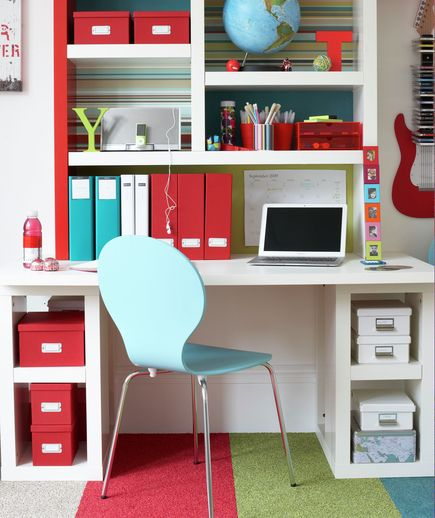 A bright workspace at home