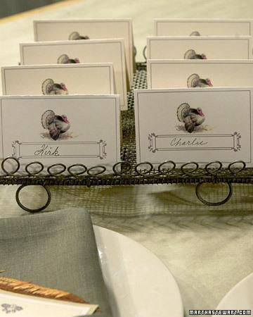 Thanksgiving Clip-Art Place Cards