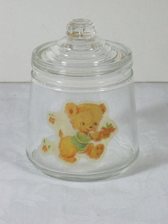 Vintage Baby Jar w/ Teddy Bear
