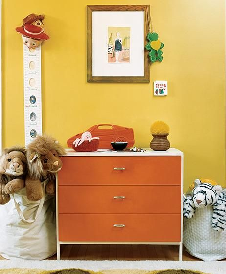 A child's room shouldn't have second-rate furniture. Even kids can appreciate a classic Herman Miller dresser, especially in vibrant red