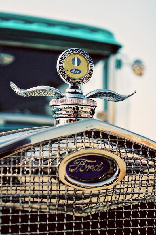 Vintage Ford Model A Winged Hood Ornament by RetroRoadsidePhoto