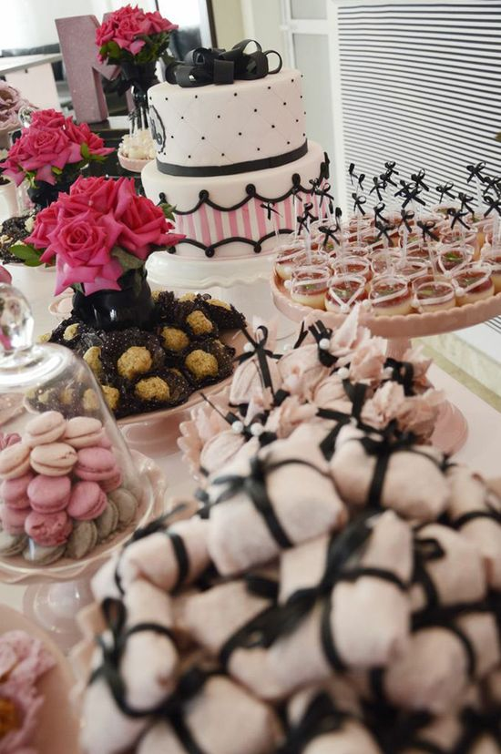 Pink Paris Party via Kara's Party Ideas