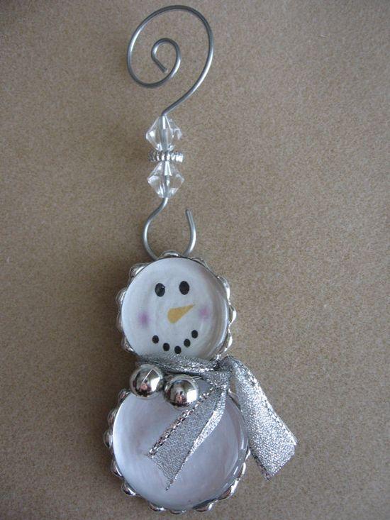 Soldered snowman ornament