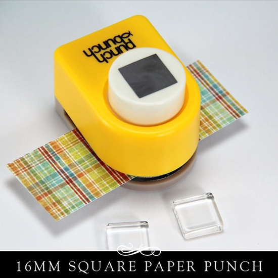 Small Square Paper Punch. Works Great with my Glamour Fx Glass and 16mm Pendant Trays. Annie Howes.. $7.00, via Etsy.