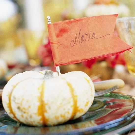 Fall Flag Place Card