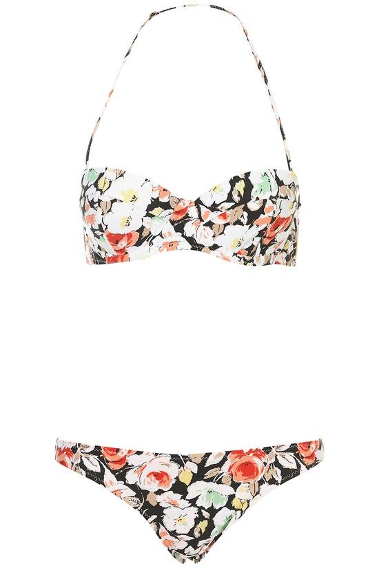 dark floral bikini