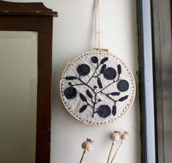 Modern Embroidery by KaftanSarafan Wall Hanging by kaftansarafan, $95.00