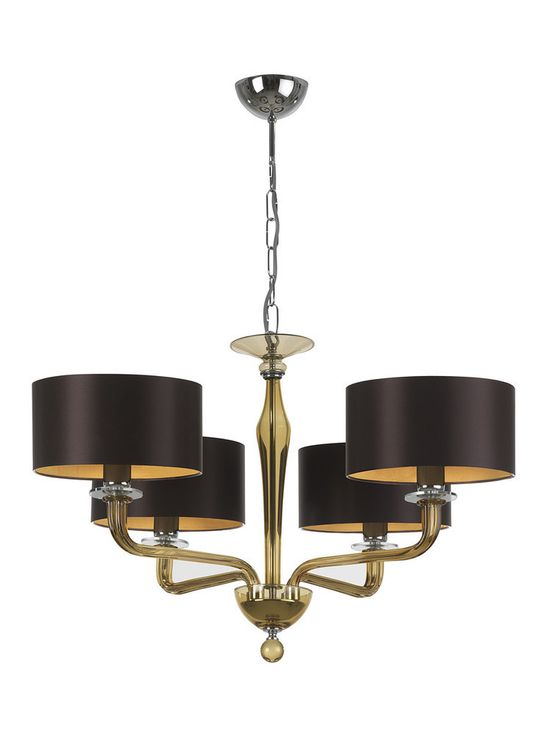 Luxe 'Chandelier' in Glass & Espresso Brown Silk, So Beautiful, Sharing Hollywood Luxury Lifestyle Home Decor Inspirations & Gift Ideas Courtesy Of InStyle-Decor.com Beverly Hills Luxe Designer Furniture & Interiors Enjoy & Happy
