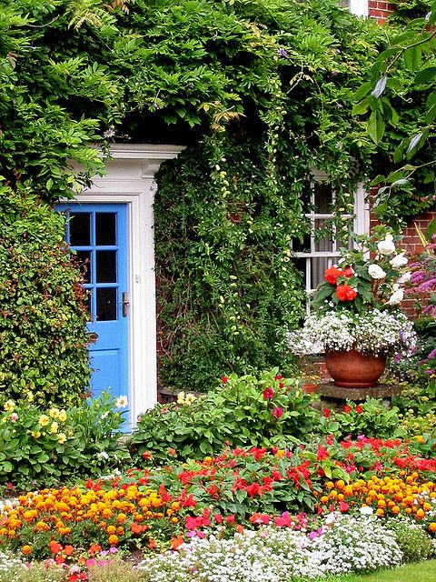 agoodthinghappened:    Norfolk cottage garden by tubblesnap on Flickr.  Norfolk, England, GB