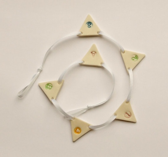 Porcelain Personalised Bunting Wedding Party by melissaceramics, £10.00  #bunting #garland #wedding #party