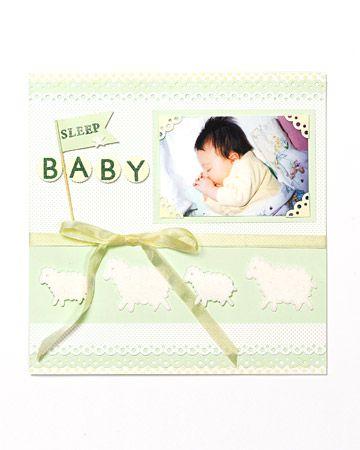 Sleeping baby scrapbook page