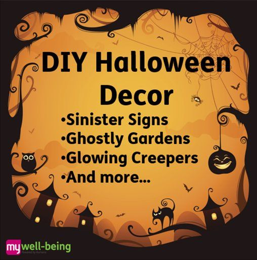 #DIY #Halloween #decor including signs, garden decor, glowing creepers, and more