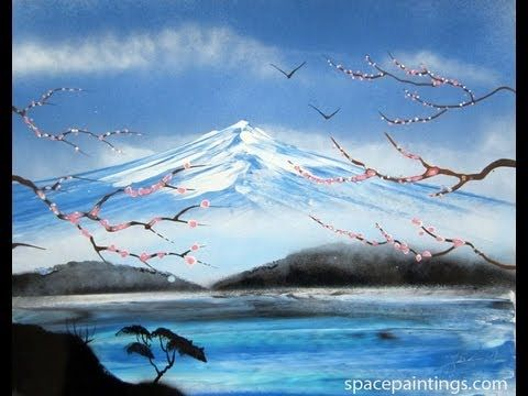 Mount Fuji Spray Paint Art