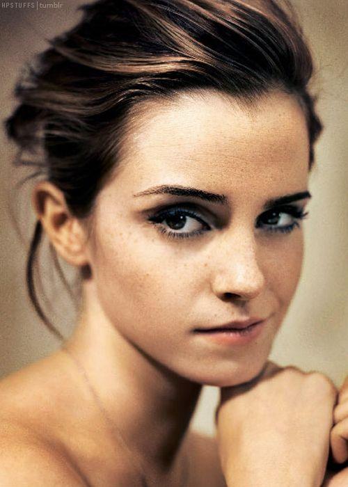 Beautiful freckle-faced Emma Watson.