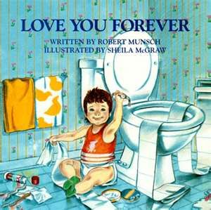 My most favorite book ever.  I love you for ever I like you for always