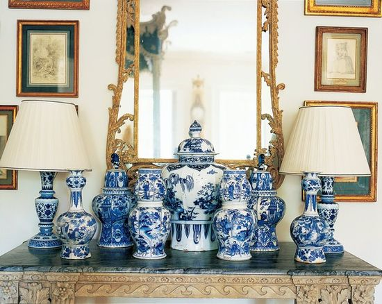 Carolyne Roehm's collection of Blue & White.