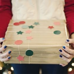 Gift Wrapping a Shoe Box + A Cute Gift Decorating Idea