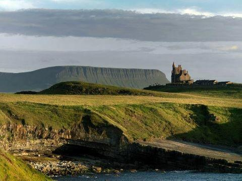 With Classiebawn Castle nestled in the background this is Mullaghmore Head in County Sligo.
