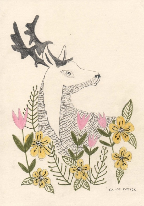 Secret Deer 8x11 Limited Edition Print by AlicePotter