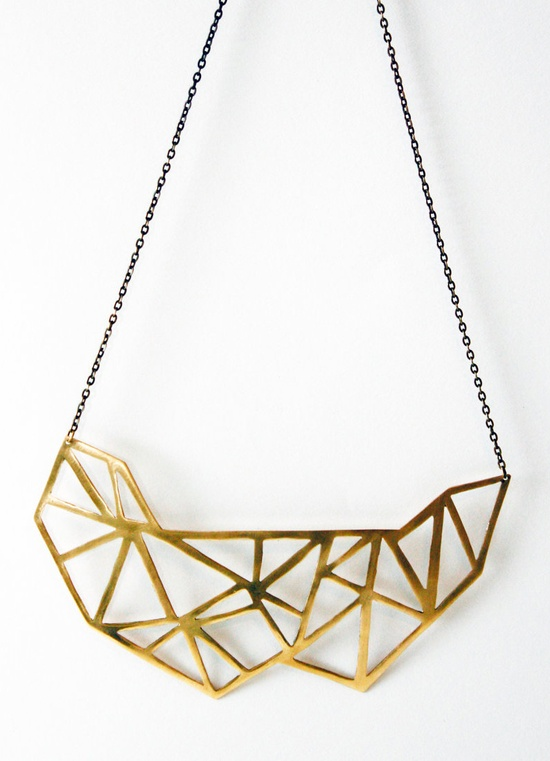 Geometric Cut Out Necklace / VRDjewelry on etsy