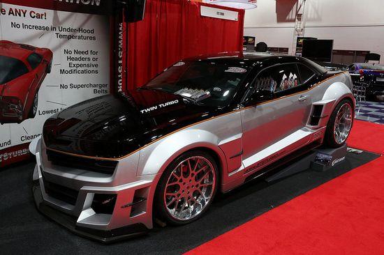 STS Twin Turbo Custom Camaro @ 2012 SEMA Show