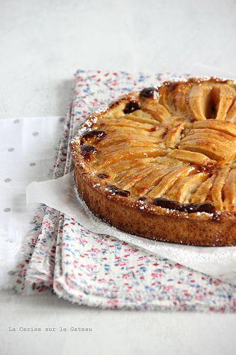 tarte aux pOmmes (sans gluten) au lait de coco & citron vert