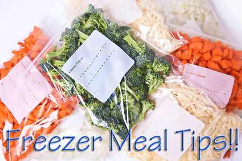 Freezer Meal Tips