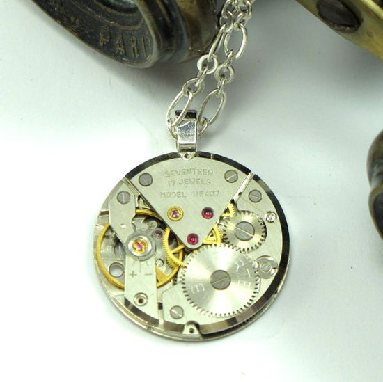 Unisex Steampunk Necklace by Mystic Pieces