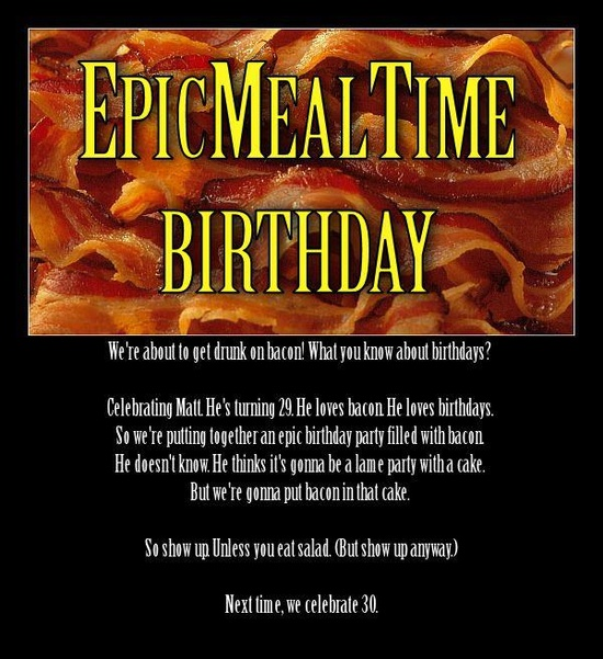 Epic Meal Time Themed Birthday!