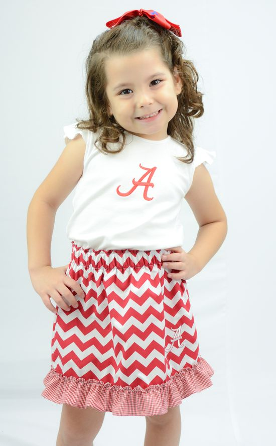 Alabama Crimson Tide Embroidered Girls Skirt!
