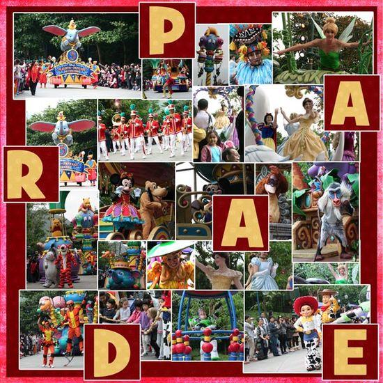 Disney Parade scrapbook page