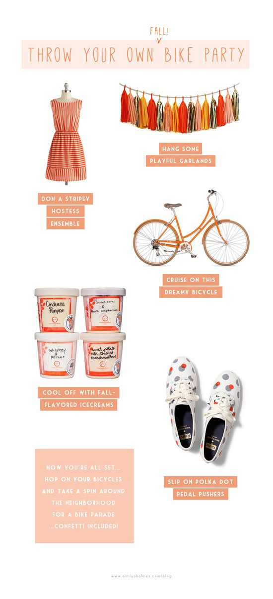 Bike Inspired Party Ideas + Nashville Party Invitations.
