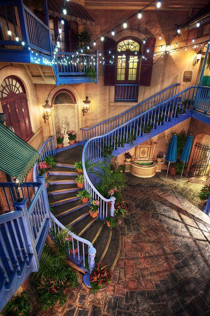 Disney resort stairs