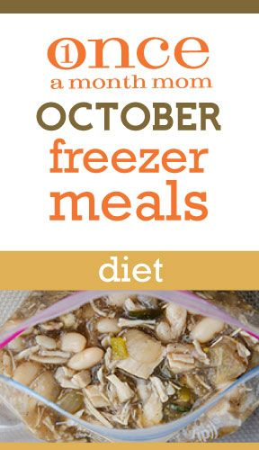 Freezer cooking menu for those watching their waist - Weight Watchers Points Plus included.