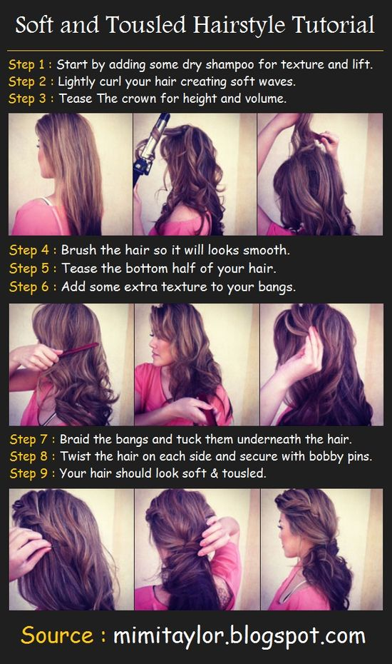Soft and Tousled Hairstyle