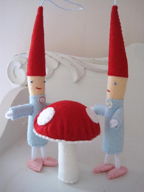 Peppermint Elf Ornaments