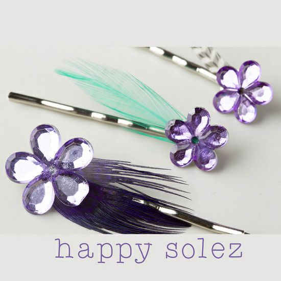 Sweet Little Flower/Feather Bobby Pins