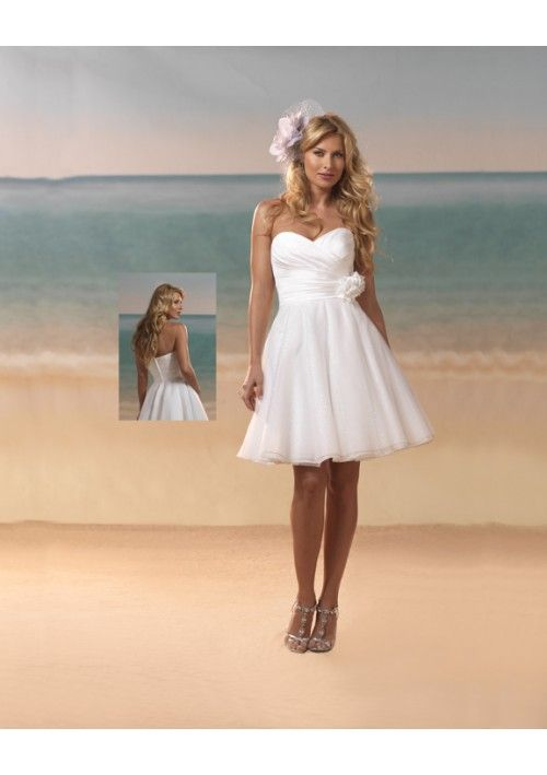 Hand-Made Flower Accents A-Line Style Lucky Wedding Dress