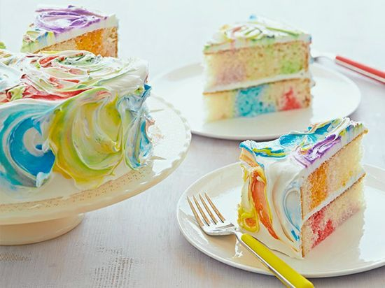 Picture of Rainbow Ribbon Cake Recipe