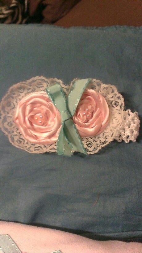 Handmade roses headband