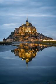 Le Mont St. Michel,  France..gorgeous! does this or does this not look like the kingdom in tangled...?
