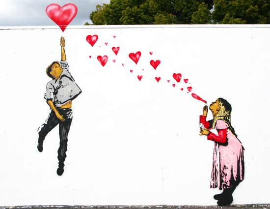 """Have A great Valentines Day! """"First love"""" by Above. #graffiti #art"""