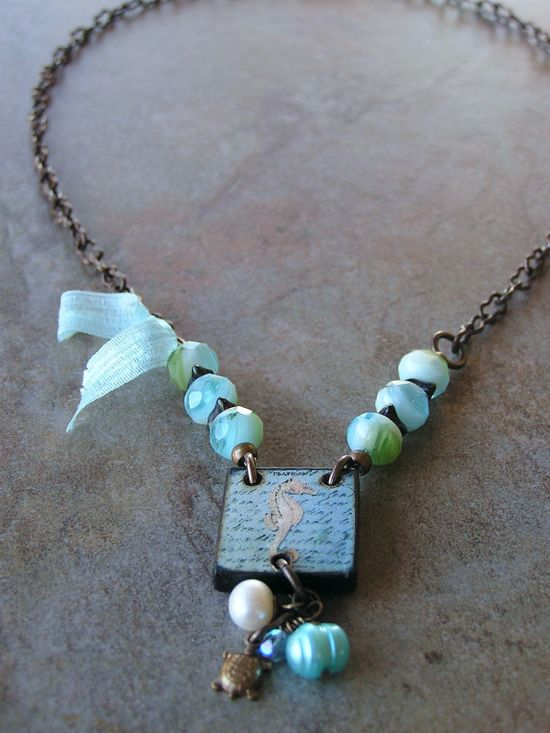 Seahorse Necklace by swallowtailjewellery