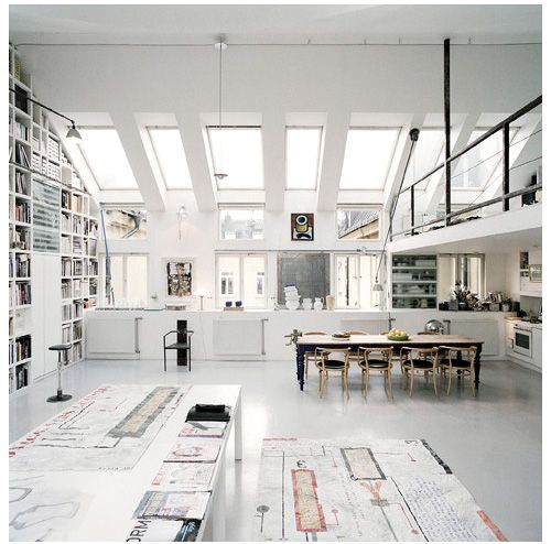 Gorgeous. White + Light. #studio #office