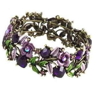 Stones Stretch Bangle Bracelet Elegant Trendy Fashion Jewelry: Jewelry
