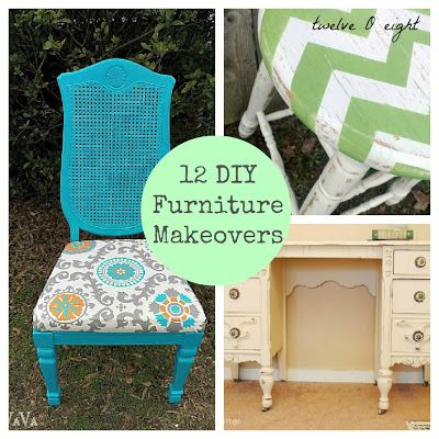 12 Do It Yourself Furniture Makeovers - twelveOeight #furniture #painted furniture #diy furniture #how to paint furniture
