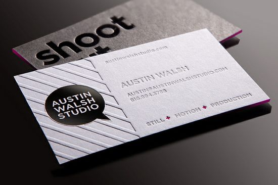 Austin Walsh Studio Business Card by Whiskey Design, via Flickr