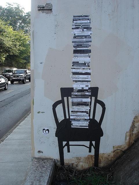 Book graffiti ... very cool