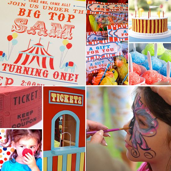 Carnival Birthday Party Inspiration Board
